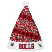 Chicago Bulls Knit Santa Hat - 2015