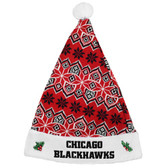 Chicago Blackhawks Knit Santa Hat - 2015