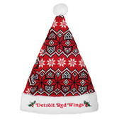 Detroit Red Wings Knit Santa Hat - 2015
