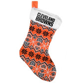 Cleveland Browns Knit Holiday Stocking - 2015