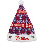 Philadelphia Phillies Knit Santa Hat - 2015