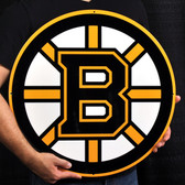 "Boston Bruins 21"" Lasercut Steel Logo Sign"