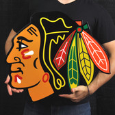 "Chicago Blackhawks 23"" Lasercut Steel Logo Sign"