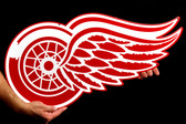 "Detroit Red Wings 26"" Lasercut Steel Logo Sign"