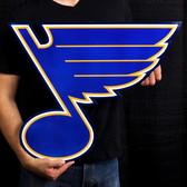 """St. Louis Blues 24"""" Lasercut Steel Logo Sign"""
