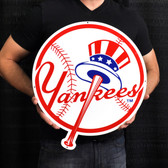 "New York Yankees 21"" Top Hat Lasercut Steel Logo Sign"