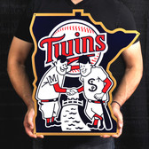 "Minnesota Twins 24"" Minnie & Paul Lasercut Steel Logo Sign"