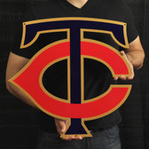 "Minnesota Twins 20"" TC Lasercut Steel Logo Sign"