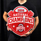 "Ohio State Buckeyes 2014 Champs 21"" Lasercut Steel Logo Sign"