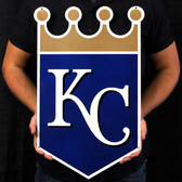 "Kansas City Royals 23"" Lasercut Steel Logo Sign"