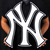 "New York Yankees 23"" NY Lasercut Steel Logo Sign"