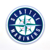 "Seattle Mariners 12"" Lasercut Steel Logo Sign"