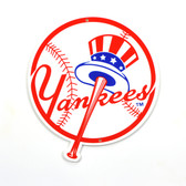 "New York Yankees 12""  Top Hat Lasercut Steel Logo Sign"