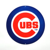 "Chicago Cubs 12"" Lasercut Steel Logo Sign"