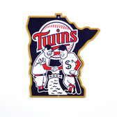 "Minnesota Twins 12"" Minnie & Paul Lasercut Steel Logo Sign"