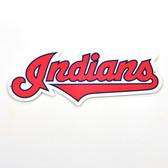"Cleveland Indians 12"" Script Lasercut Steel Logo Sign"