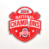 "Ohio State Buckeyes 2014 Champs 12"" Lasercut Steel Logo Sign"