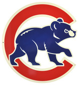 "Chicago Cubs 12"" Walking Bear Lasercut Steel Logo Sign"