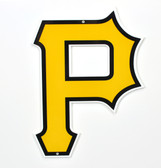 "Pittsburgh Pirates 12"" P Lasercut Steel Logo Sign"