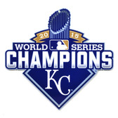 "Kansas City Royals 12"" 2015 World Series Champions Lasercut Steel Logo Sign"