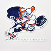 "Detroit Tigers 12"" Vintage Catcher Kitty Lasercut Steel Logo Sign"