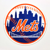 "New York Mets 12"" Lasercut Steel Logo Sign"