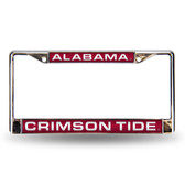 Alabama Crimson Tide Red Laser Chrome Frame