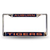 Auburn Tigers Blue Laser Chrome Frame