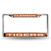 Clemson Tigers Orange Laser Chrome Frame