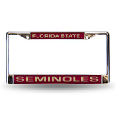 Florida State Seminoles  Red Laser Chrome Frame