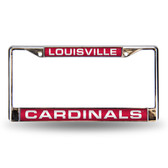Louisville Cardinals Red Laser Chrome Frame