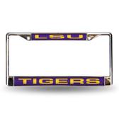 LSU Tigers Purple Laser Chrome Frame