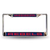 Ole Miss Rebels Blue Laser Chrome Frame
