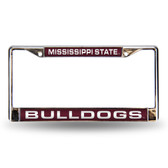 Mississippi State Bulldogs Red Laser Chrome Frame