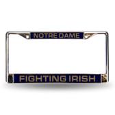Notre Dame Fighting Irish Blue Laser Chrome Frame