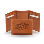 Oklahoma State Cowboys  Embossed Leather Trifold