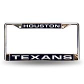 Houston Texans Blue Laser Chrome Frame