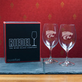 Kansas State Wildcats  Set of 2 Riedel 18 OZ Red Wine Glasses