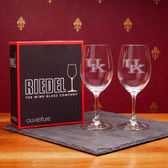 Kentucky  Wildcats Set of 2 Riedel 9 OZ White Wine Glasses