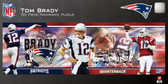 New England Patriots Tom Brady 750 Piece Panoramic Puzzle