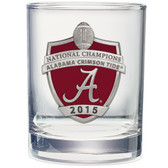 Alabama Crimson Tide 2015-16 College Football Champions Double Old Fashion Glass Set of 2