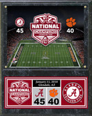 "Alabama Crimson Tide 2015 National Champions Plaque 15""x12"""