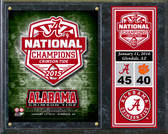 "Alabama Crimson Tide 2015 National Champions Team Logo Plaque 15""x12"""