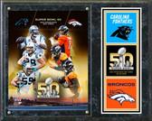 Super Bowl 50 Carolina Panthers Vs. Denver Broncos Match Up Composite Plaque