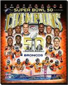Denver Broncos Super Bowl 50 Champs 16x20 Stretched Canvas