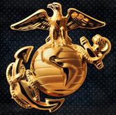 "Marines 15"" Enlisted Gold Steel Logo Sign"