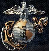 "Marines 15"" Officer Silver Steel Logo Sign"