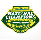 "North Dakota State Bison 12"" 2015 Champions Lasercut Steel Logo Sign"