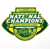 "North Dakota State Bison 12"" 2015 Champions Lasercut Steel Logo Sign"
