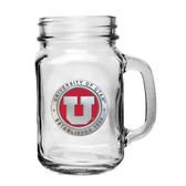 Utah Utes Mason Jar Mug